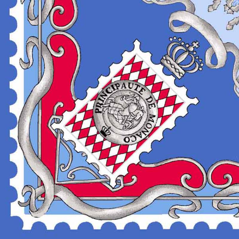3e2334e841e6 Carré de soie - coloris bleu jean