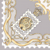 Carré de soie - coloris argent