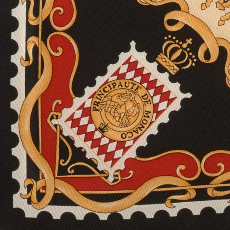 ec35515455ad Carré de soie - coloris noir ivoire