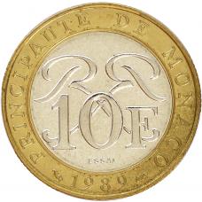 """1989 - 10 F Sceau princier """"Chevalier en armure"""""""