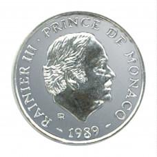 1989 - 100 F Prince Rainier III - Essai Argent